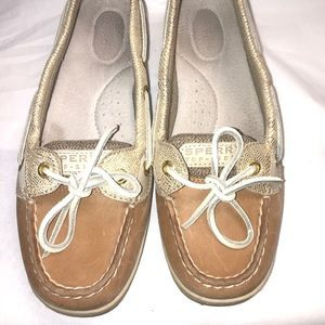 Sperry Angelfish Python Linen/Gold